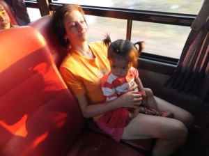 С малышкой