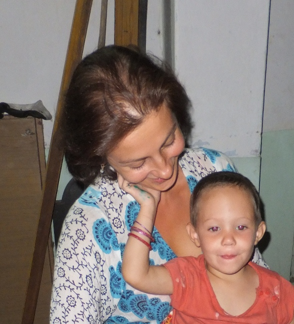 Милое дитя в Калькутте!