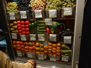 Цены на овощи-фрукты в Новосибирске.