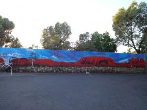 Граффити с изображением Сердца Австралии!