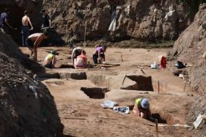 Раскопки храма Деметры