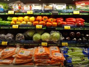 Цена на овощи в США.