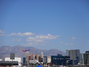 Лас-Вегас при взлете!