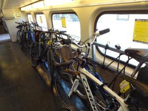 Места для велосипедов в электричках США
